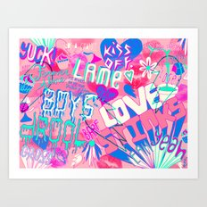 anti-valentine's day Art Print