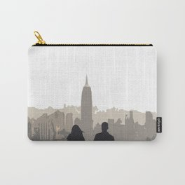 The Couple Overlooking the New York City Skyline and the Empire State Building Carry-All Pouch