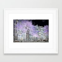 amsterdam Framed Art Prints featuring Amsterdam by DuniStudioDesign