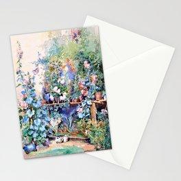 Rosa Mayreder - Garden still life with kitten - Digital Remastered Edition Stationery Cards