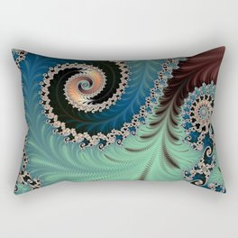 Azure - Fractal Art Rectangular Pillow