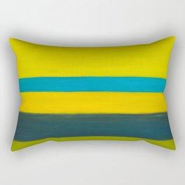 yellow blue Rectangular Pillow
