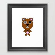 Class bear Framed Art Print