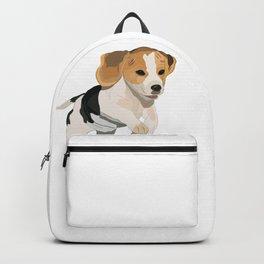 Beagle Art, beagle puppy, digital painting Backpack