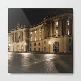 Berlin Humboldt University at Night Metal Print