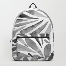 Symmetric drops - black and white Backpack