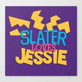 Slater Loves Jessie Canvas Print
