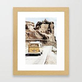 Boho Van Desert Road Trip  Framed Art Print