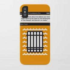 No012 MY Huckleberry Finn Book Icon poster iPhone X Slim Case