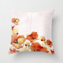Beautiful Poppies #society6 Throw Pillow