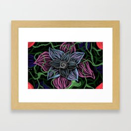 strange flower Framed Art Print