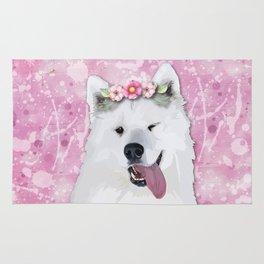 Pretty Samoyed Dog Rug