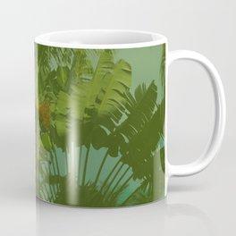 Faux Vintage Tropical Fabric Coffee Mug