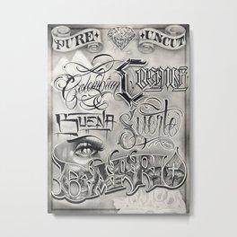 Pure Crack Metal Print