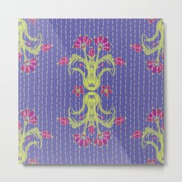 Kantha Bouquet 6 Metal Print