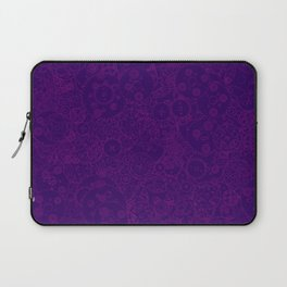 Clockwork PURPLE DREAM / Cogs and clockwork parts lineart pattern Laptop Sleeve
