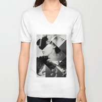 feminism V-neck T-shirts featuring Handsome Feminism by Haus of Handsome