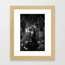 XI. Justice Tarot Card Illustration Framed Art Print