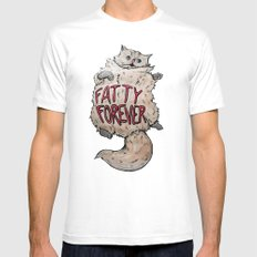 Fatty Forever SMALL White Mens Fitted Tee