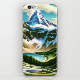 The Trail Riders Mountain Landscape by Thomas Hart Benton iPhone Skin