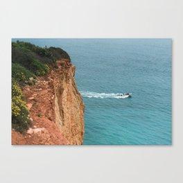 A boat at sea Canvas Print