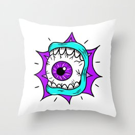 Screaming Eyeball Throw Pillow
