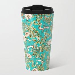 Teal Botanical #society6 #decor #buyart Metal Travel Mug
