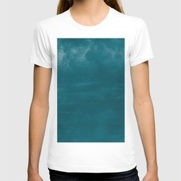 Burst of Color Tropical Dark Teal Inspired by Sherwin Williams 2020 Trending Color Oceanside SW6496 Abstract Watercolor Blend T-shirt