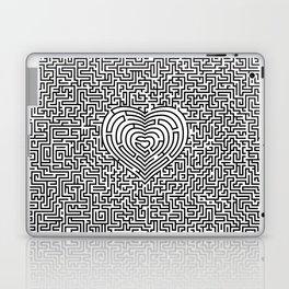 Ultimate heart maze in black Laptop & iPad Skin