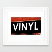 vinyl Framed Art Prints featuring Vinyl by Biff Rendar
