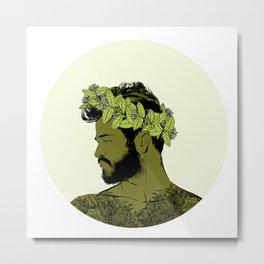 Green Crown Metal Print