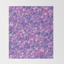 Vintage Gothic Rose Radiant Orchid Lavender Purple Throw Blanket