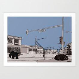 Lynn Valley Bears Art Print