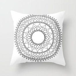 Line Lace Throw Pillow