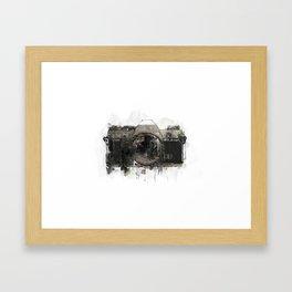 retro camera illustration / painting /drawing  2 Framed Art Print