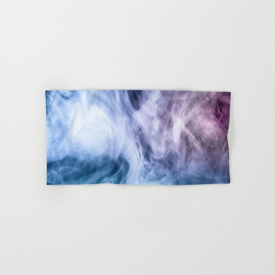 Blue and purple abstract heavenly clouds Hand & Bath Towel