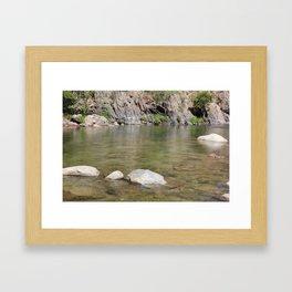 Kern River pond Framed Art Print