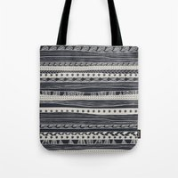 aztec Tote Bags featuring aztec by spinL