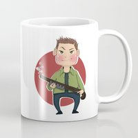 winchester Mugs featuring Dean Winchester by RiruD