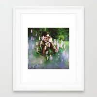 the vampire diaries Framed Art Prints featuring field diaries by Oliver Charles