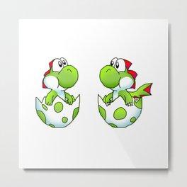 Yoshi and Dragon Yoshi Metal Print