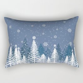 Winter Snow Forest Rectangular Pillow
