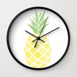 Watercolor Pineapple Wall Clock
