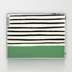Moss Green x Stripes Laptop & iPad Skin