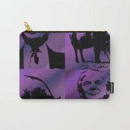 Trump with Pig purple Carry-All Pouch