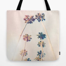 Vintage Pastel Palm trees Tote Bag