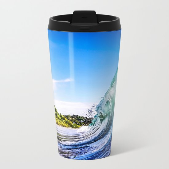 Wave Wall Metal Travel Mug