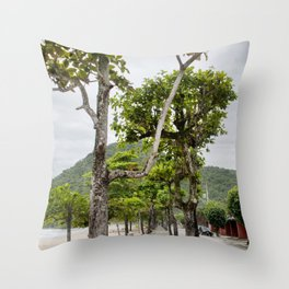 Street of Angra dos Reis (Brazil) Throw Pillow