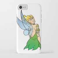 tinker bell iPhone & iPod Cases featuring Tinker Bell by NOBODY's Art