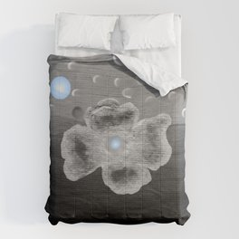 Blue Moon and poppy Comforters